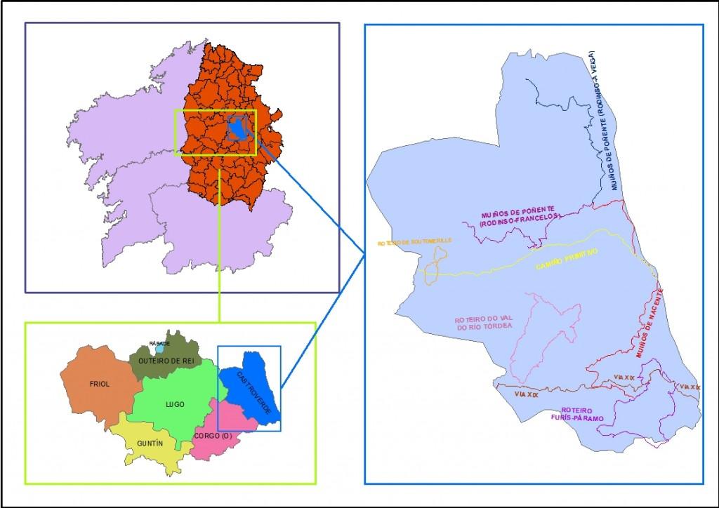 mapa galicia